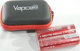 Vapcell INR21700 4500 mAH 3.7 V Twin Pack + Case