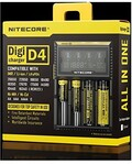 Nitecore D4 Smart LCD Battery Charger for IMR/Li-ion/LiFePO4/Ni-MH/NiCd